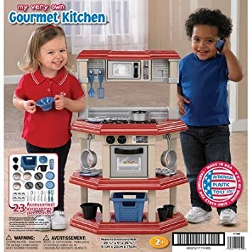 Amazon.com: American Plastic Toys My Very Own Gourmet Kitchen ...