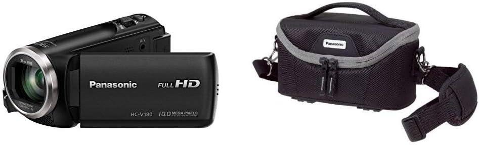 Panasonic HC-V180EG-K Full HD Camcorder 50 Lightweight Tripod with Bag schwarz /& Basics 127cm 1//5, 8 Zoll Sensor, Full HD, 50x optischer Zoom, 28 mm Weitwinkel