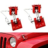 Hood Lock Latches Catch Locking Replacement Kit for Jeep JK Wrangler 2007-2017