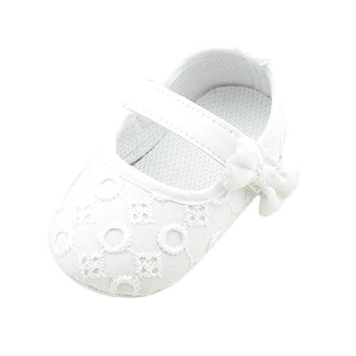 Fossen Zapatos Bebe Niña Primeros Pasos Recien Nacido Princesa Zapatos Antideslizantes de Suela Blanda