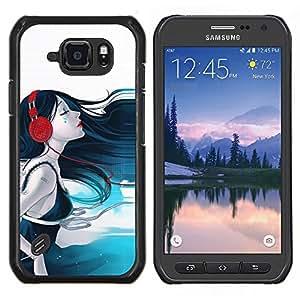 """Be-Star Único Patrón Plástico Duro Fundas Cover Cubre Hard Case Cover Para Samsung Galaxy S6 active / SM-G890 (NOT S6) ( Sonido Belleza"""" )"""