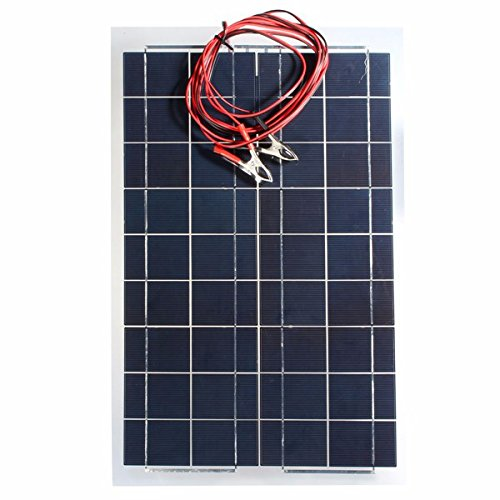 HITSAN 30W 12V Semi Flexible Solar Panel Device Battery Charger One (Charger One Piece)