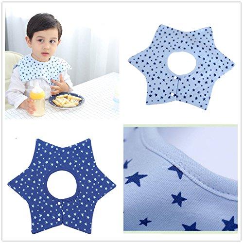 Baby Bib Towels 360 Degree Bib Rotate Baby Girl Boy Infant Saliva Towel Baby Kids Star Bibs Burp Wear breastplate,Pack of 2