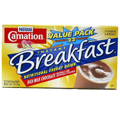 Nestle Carnation Instant Breakfast - 22 Packets /1.26 Oz Chocolate Flavor (22 Packets)