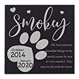 CustomizationMill Personalized Pet Memorial Stone - Dog Grave Marker | Garden Stones Loss of Dogs