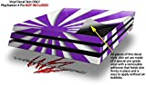 WraptorSkinz PS4 Pro Skin Rising Sun Japanese Flag Purple - Decal Style Skin Wrap fits Sony PlayStation 4 Pro Console