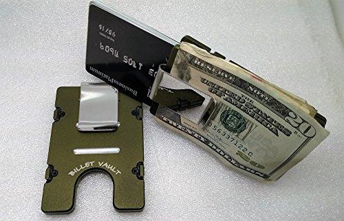 Green American Flag with Punisher Aluminum Wallet//Card Holder RFID Protection