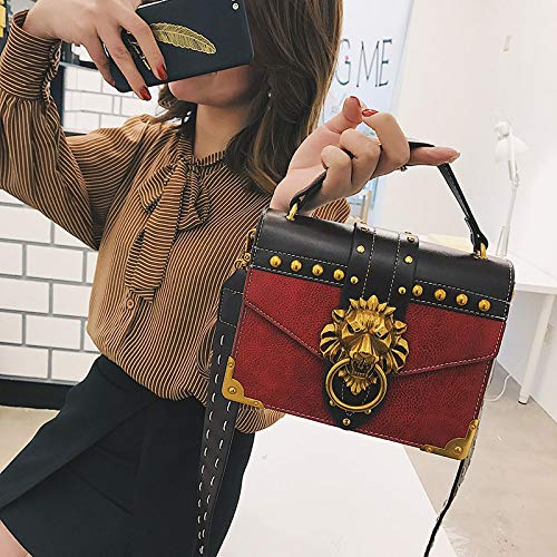 5CM Simple De Crossbody Orange Cadena Colores XRKZ La Cremallera Bolso Disponibles 20 Rivet Bolso Cuadrado Bolso 4 16 Red Retro Largo Retro 7 Salvaje 4UP4Yw