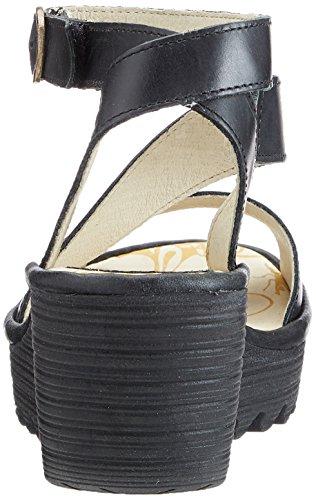 Fly London Yesk - Sandalias de vestir de caucho para mujer Negro (Black 000)