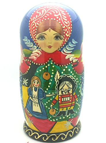 Nutcracker fairy tale Russian Hand Carved Hand Painted Nesting 5 piece DOLL Set 7'' tall / ballet by BuyRussianGifts (Image #3)
