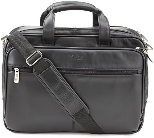 Kenneth Cole Reaction Business and Luggage Leather Zip-Top Portfolio in Reg Black by Kenneth Cole REACTION