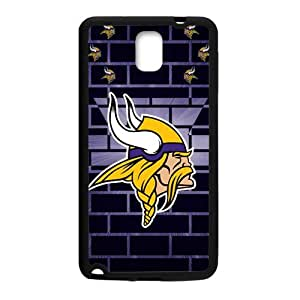 Happy Minnesota Vikings Fashion Comstom Plastic case cover For Samsung Galaxy Note3