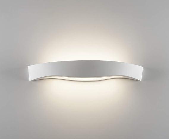 Applique design lampada da parete moderna ceramica bianca effetto