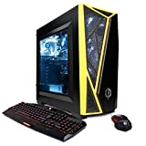 CYBERPOWERPC Gamer Master GMA430 Desktop Gaming PC (AMD Ryzen 5 1500X 3.5GHz, AMD RX 580 4GB, 8GB DDR4 RAM, 3TB HDD & Win 10 Home) Black/Yellow