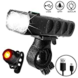 Bike Light Front and Rear, Derlson Rechargeable Bicycle Light, Super Bright 800 Lumens