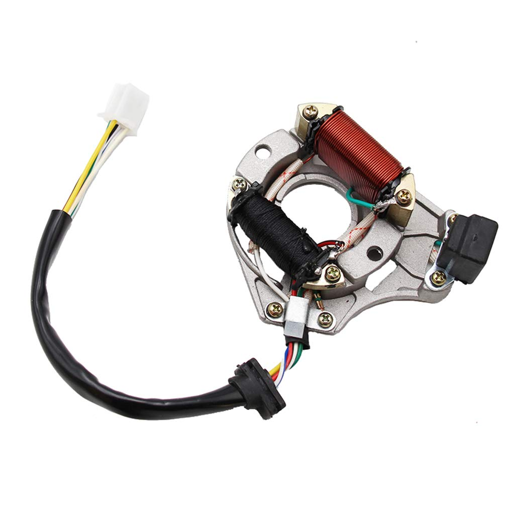 ATV Qaud 2コイルステイター イグニッションマグネトプレート プロバット マグネット/ステータープレートローター 50cc 125cc 70cc 90cc 110cc ダート/トレイル/ピットバイク用 B07Q4LF24Y