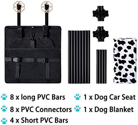 Genorth Hund Autositz Dog Car Seat Rüsten Sie Den Tragbaren Deluxe Pet Car Booster Autositz Mit Aufsteckbarer Sicherheitsleine Und Hundedecke Auf Perfekt Für Kleine Haustiere Haustier