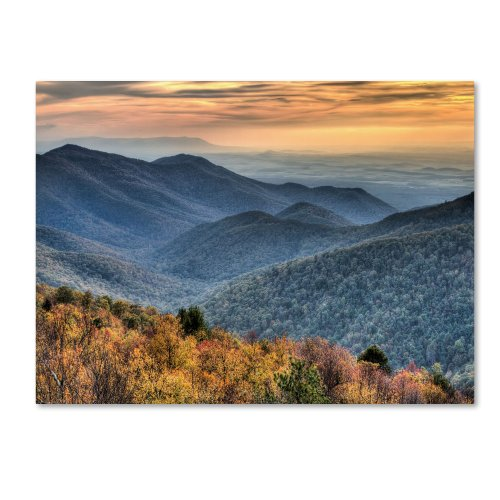 Shenandoah Autumn by Pierre Leclerc work, 30 by 47-Inch Canvas Wall Art