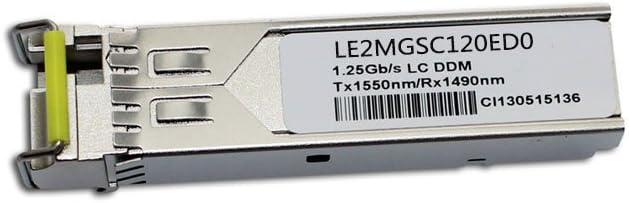 LODFIBER LE2MGSC120ED0 Huawei Compatible 1000BASE-BX BiDi SFP 1550nm-TX//1490nm-RX 120km DOM Transceiver
