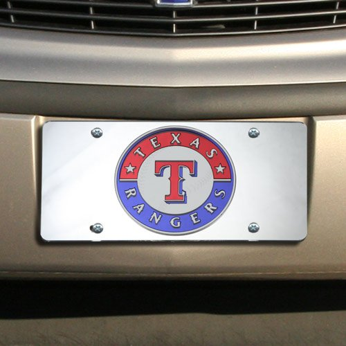 ser Cut License Plate, Silver (Texas Rangers Frame)