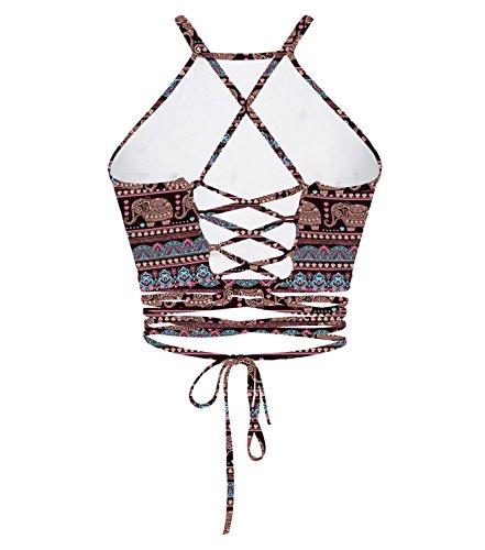 Gludear - Camiseta sin mangas - Corsé - para mujer elefante