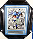 Barry Sanders Autographed Framed 8x10 Photo Detroit Lions PSA/DNA Stock #130221