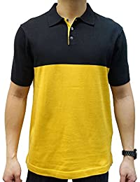 Men's Polo Shirt, Short Sleeve, Combed USA Cotton, 3 Real Shell Buttons, Contrast Color Jersey Stitch