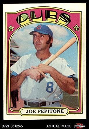Amazoncom 1972 Topps 303 Joe Pepitone Chicago Cubs Baseball