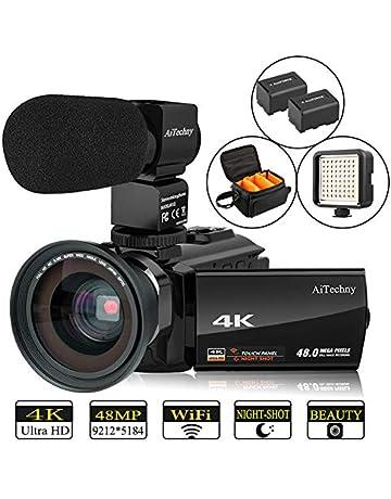 32d56c8624ca52 Video Camera 4K Camcorder AiTechny Ultra HD Digital WiFi Camera 48MP 16X  Digital Zoom Recorder IR