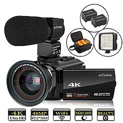 Video Camera 4K Camcorder AiTechny Ultra...