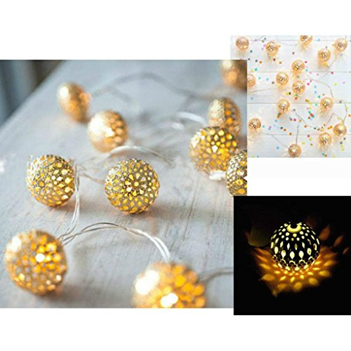 Warm White Fairy String Light, Christmas Wedding Xmas Party Decor Outdoor Lamp (Gold)