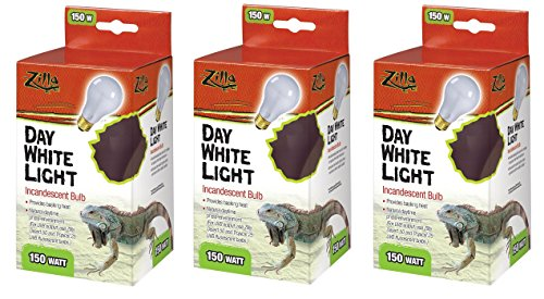 (3 Pack) Zilla Incandescent Bulb, Day White Light & Heat, 75 Watt (Bulbs Light Reptile)
