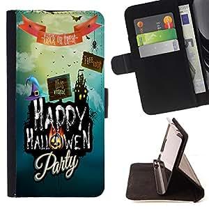King Case - FOR Samsung Galaxy S3 III I9300 - we'll be together - Prima caja de la PU billetera de cuero con ranuras para tarjetas, efectivo Compartimiento desmontable y correa para la mu?eca