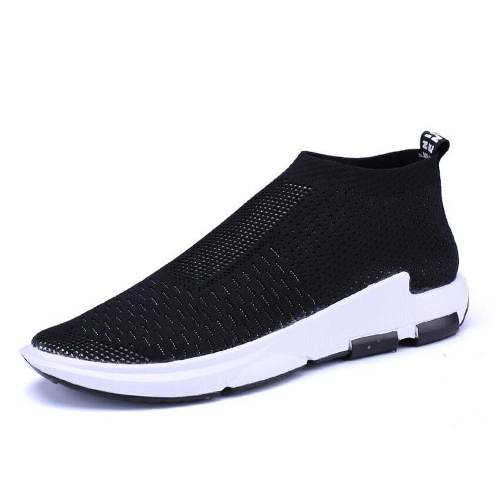 MYI Zapatos de Hombre Tulle Spring Fall Comfort Sneakers Hebilla Para Atlético Casual Negro Gris Rojo 40 EU|Black
