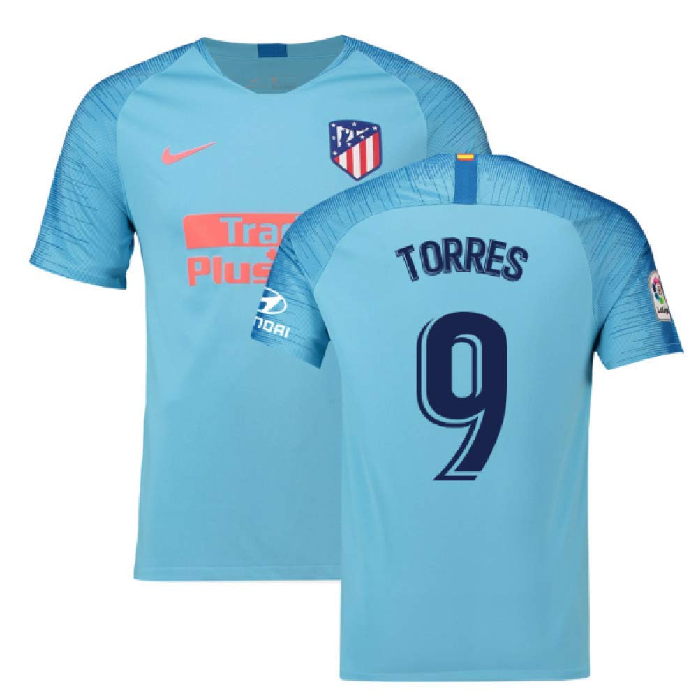 2018-2019 Atletico Madrid Away Nike Football Soccer T-Shirt Trikot (Fernando Torres 9)