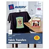 Wholesale CASE of 10 - Avery Inkjet Dark T-Shirt Transfers-Dark T-Shirt Transfers, Iron-On, 8-1/2''x11'', 5/PK