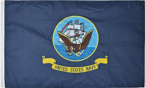 Green Grove Products U.S. Navy Flag 3′ x 5′ Ft 210D Nylon Premium Outdoor Embroidered Flag For Sale