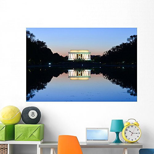 Wallmonkeys Washington Dc Lincoln Memorial Wall Decal Peel and Stick Graphic (60 in W x 40 in H) ()