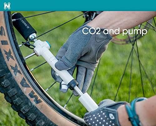 Portable Mini Air Inflator Pump with CO2 Pressure Valve for Bicycle Tire - Small Handheld Tool Fits both Dunlop and Presta Valves - Perfect Bike Accessory to Keep Tires Inflated and on the Road by Noble Cycling (Image #3)