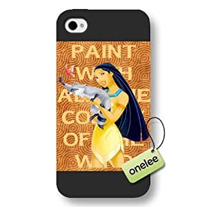 Disney Cartoon Movie Pocahontas Frosted Phone Case & Cover For Apple Iphone 5C Case Cover - Black