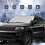 ROCONTRIP Car Windshield Cover Snow, Waterproof Ice Frost Rain Windshield Sun Shade Protector Removable Front Window Cover Fits Most Vehicles in All Weather