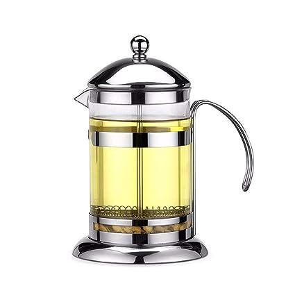 3 Tamaños Prensa Francesa Cafetera Cafetera de Acero Inoxidable con Aislamiento Máquina de café de Vidrio