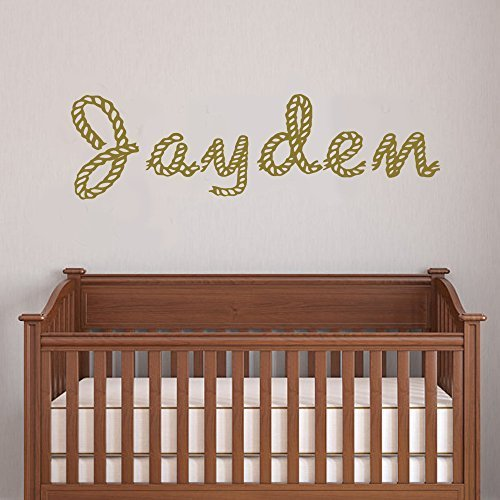 - Teisyouhu Wall Decor Stickers Personalized Rope Letters Children Monogram Kids Name Western Decor Cowboy Words Custom Mural Wall Art Decal Sticker for Men