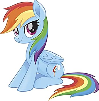 9 Inch Rainbow Dash Wall Decal Sticker MLP My Little Pegaus Pony The Movie Removable Peel