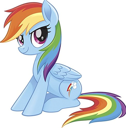 9 Inch Rainbow Dash Wall Decal Sticker MLP My Little Pegaus Pony The Movie Removable Peel Self Stick Adhesive Vinyl Decorative Art Kids Room Home Decor Girl Bedroom Nursery 9 by 8 inches tall]()