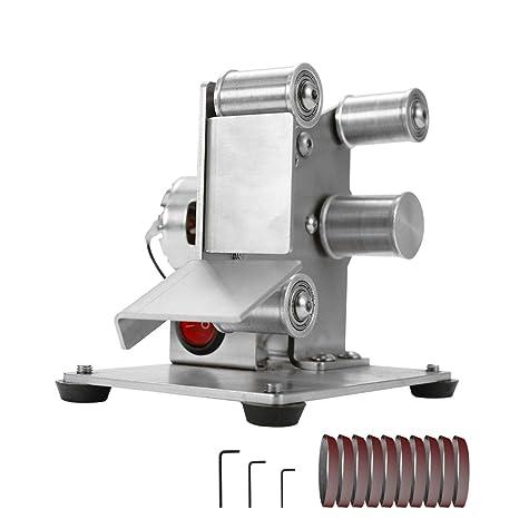 Festnight Amoladora multifuncional mini lijadora de correa eléctrica bricolaje pulido máquina de molienda cortador bordes bordes