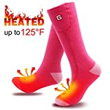 SVPRO Electric Rechargeable Battery Heated Socks Men Women Cold Weather Heated Socks Sport Outdoor Indoor Camping Hiking Hunting Thermal Heating Foot Warmer