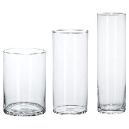 225 & Amazon.com: IKEA 601.750.92 Vase Set of 3 Clear Glass ...