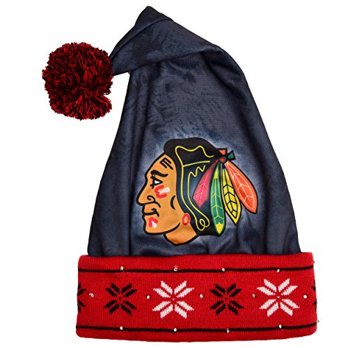 FOCO Chicago Blackhawks Light Up Santa Hat by FOCO
