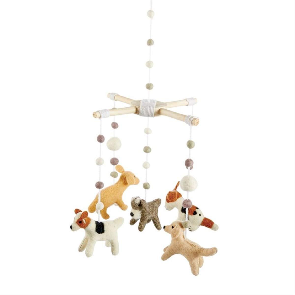 """Mud Pie Baby Nursery Puppy Mobile, Multicolor, 21 1/2"""" x 10"""" Dia"""